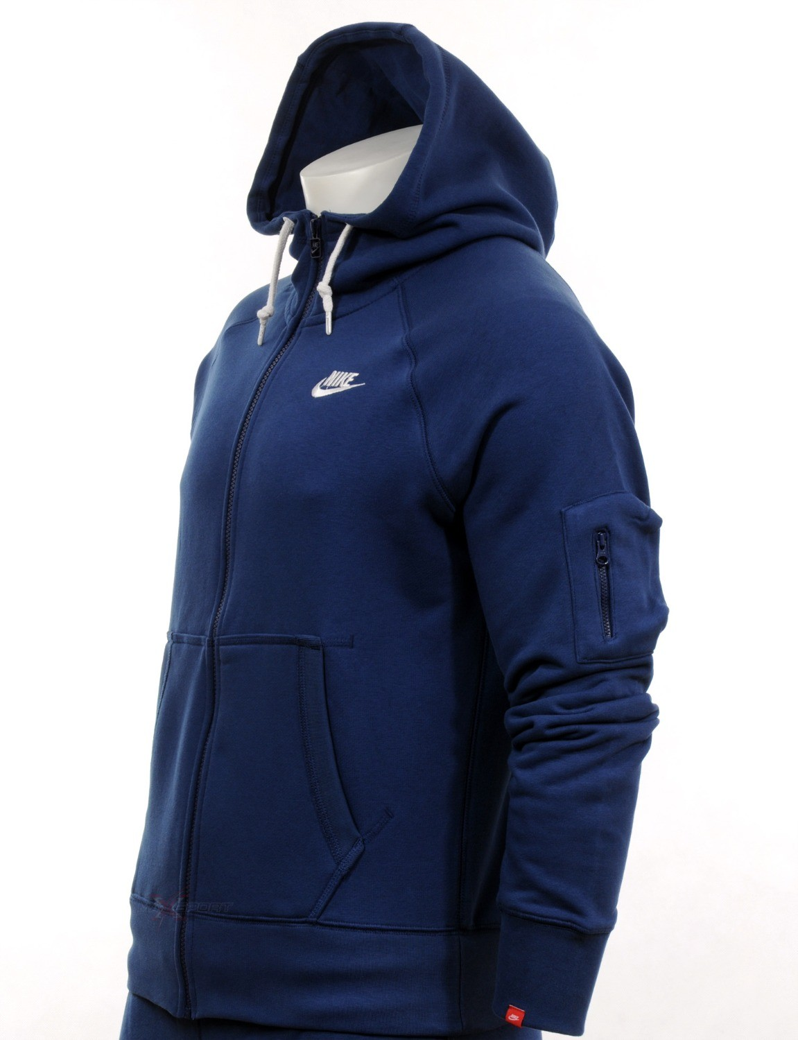 0844 nike mens hoodie full zip hooded blue hoody s m l xl. Black Bedroom Furniture Sets. Home Design Ideas